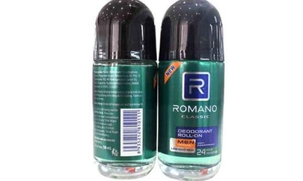 Lăn khử mùi Romano Classic chai 50ml nhập khẩu