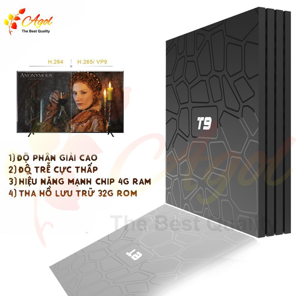 ANDROID TV BOX T9 4GB RAM 32GB ROM CÓ BLUETOOTH CÀI SẴN ỨNG DỤNG XEM PHIM HD VÀ TRUYỀN HÌNH CÁP