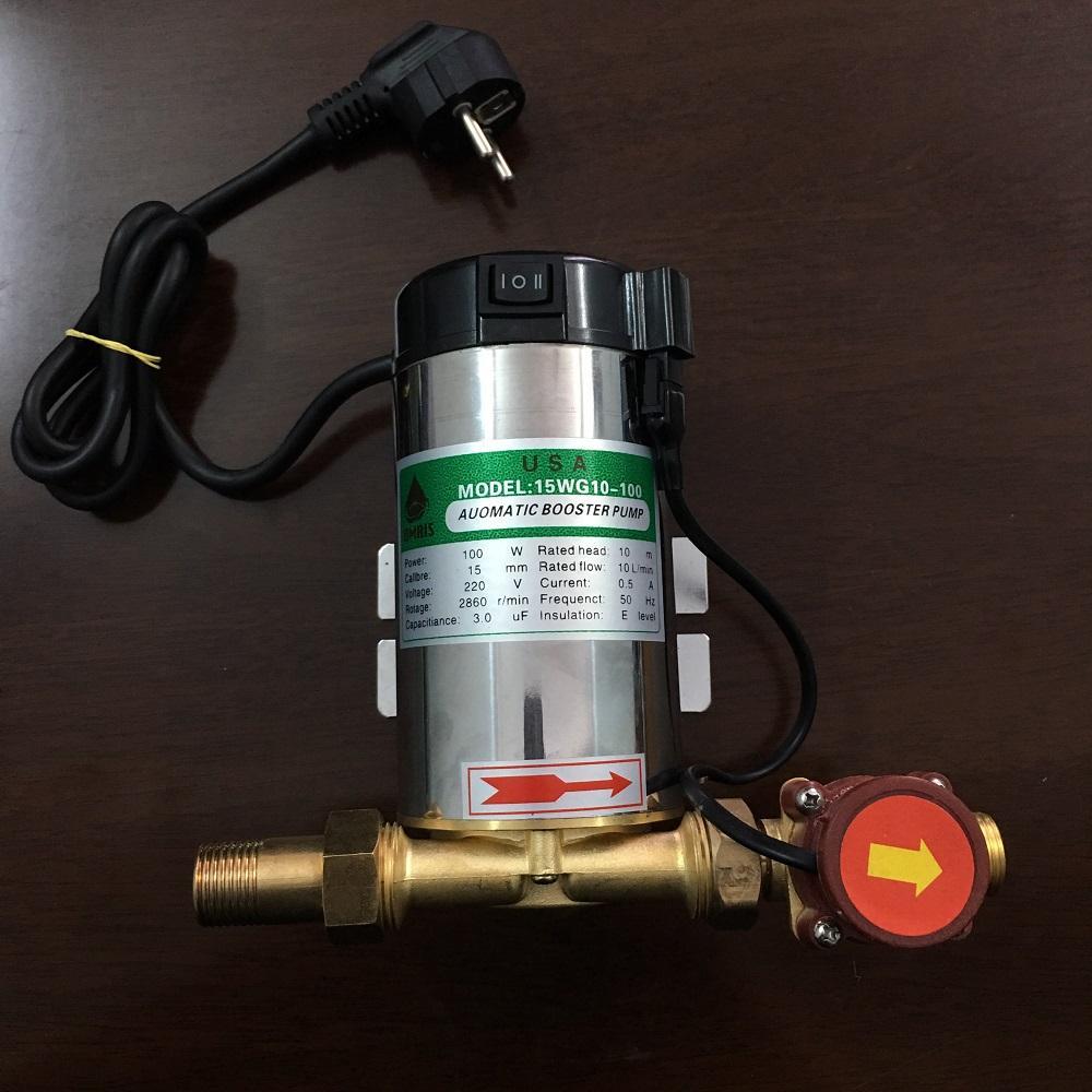Bơm tăng áp cho máy giặt, máy nóng lạnh 100W - 220V