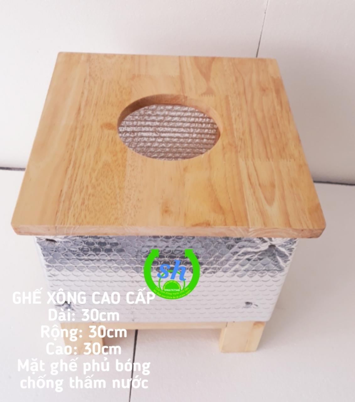 Ghế xông vùng kín bằng gỗ Tặng bọc cách nhiệt