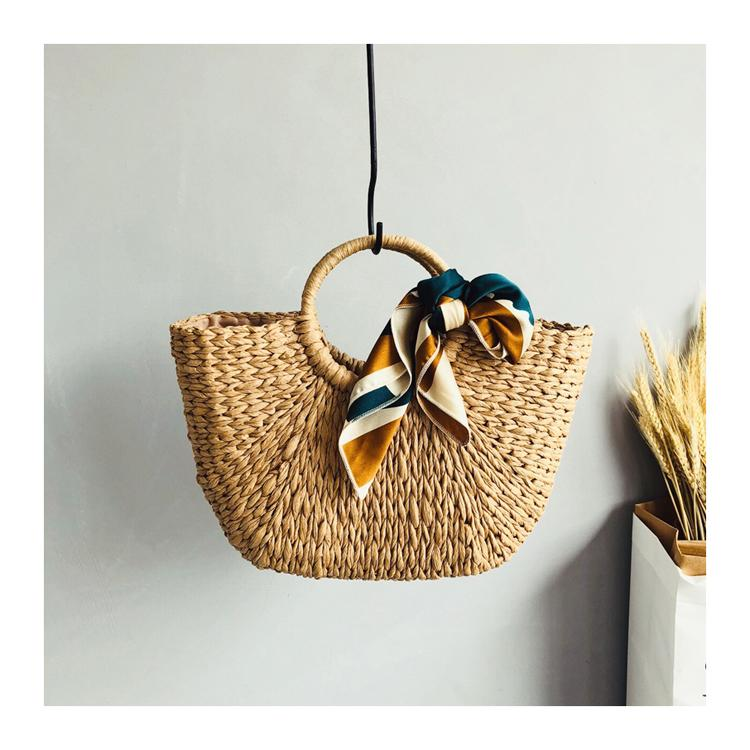 2019 Summer New Style Versatile Rattan Woven Bag Vintage Handbag Holiday Travel Beach Bag INS Straw Bag Female