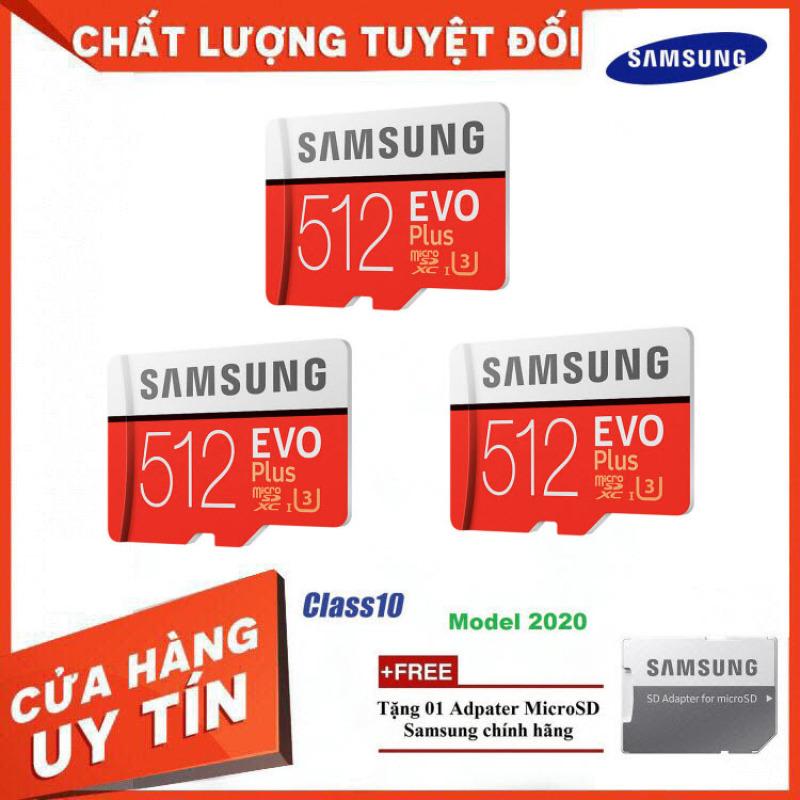 [Bán Lỗ] Combo 3 Thẻ Nhớ MicroSDXC Samsung EVO Plus U3 512GB 100MB/s MB-MC512H - Hàng Chính Hãng