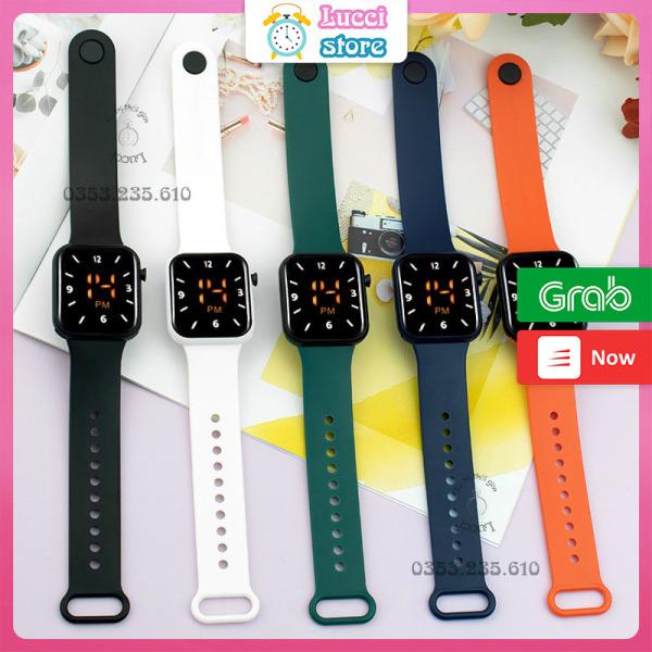 Đồng hồ điện tử cảm ứng, đồng hồ đeo tay Nữ dây nhựa thời trang bán chạy