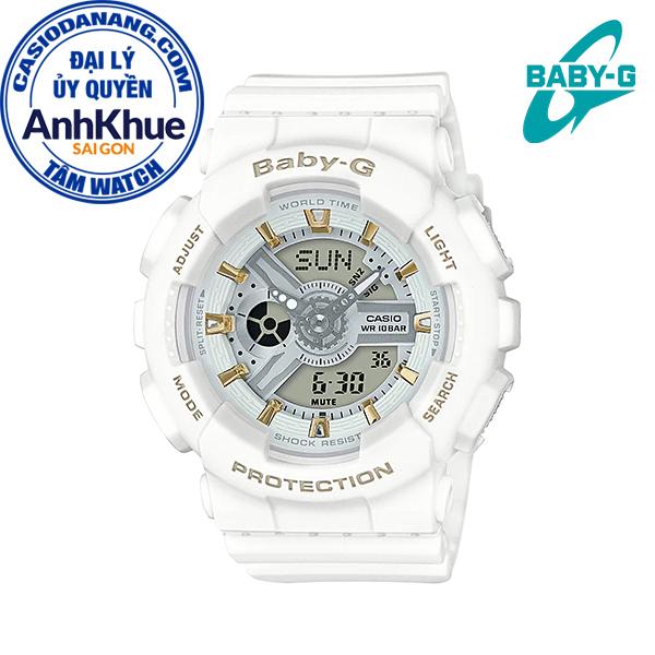 Đồng hồ nữ dây nhựa Casio Baby-G chính hãng Anh Khuê BA-110GA-7A1DR (43mm)