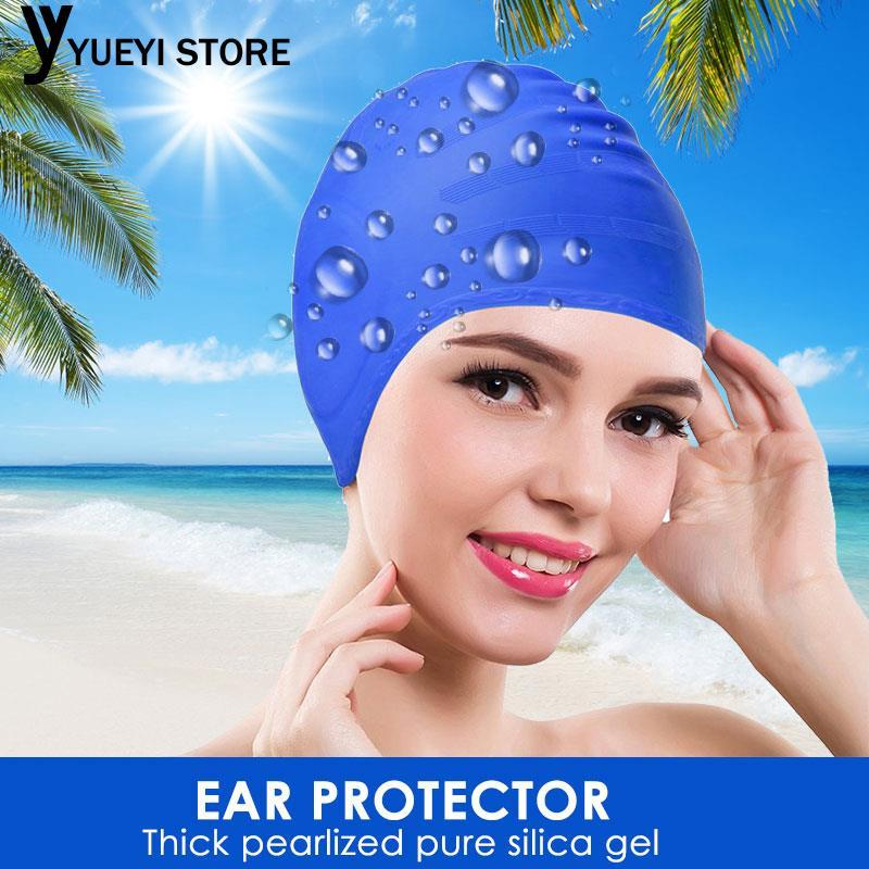 Silicone High Elasticity Swim Pool Hat Swimming Hat Swimming Cap Fashion Silicone Swimming Hat Bathing Cap Pool By Yueyi Store.