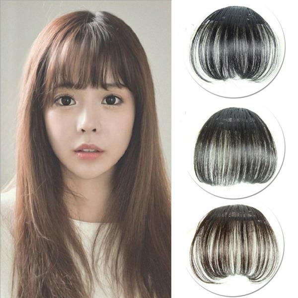 Thời trang Phụ nữ Air Thin Tóc tổng hợp Bangs mờ tóc giả nữ - 02