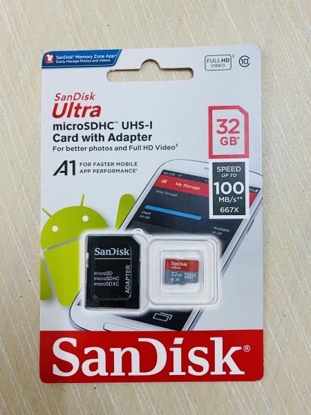 THẺ NHỚ MICRO SD HC 32GB CLASS 10 SANDISK, dùng cho điện thoại máy tính bảng camera tablet, lưu trữ dữ liệu hình ảnh video game, memory card SDHC 32 GB gygabyte 32G, hàng cao cấp chính hãng tốt xịn rẻ tốc độ cao, bền đẹp dùng lâu