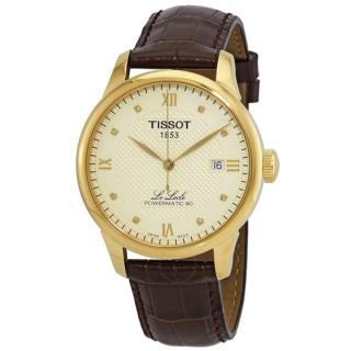 Đồng hồ Tissot Nam LE LOCLE POWERMATIC 80 T006.407.36.266.00 cọc số kim cương, mặt trắng, dây da, kính shapphire - Máy cơ tự động thumbnail