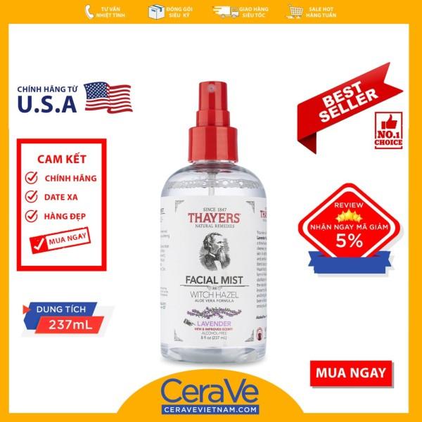 Thayers Lavender Facial Mist - Nước hoa hồng dạng xịt (237mL) nhập khẩu