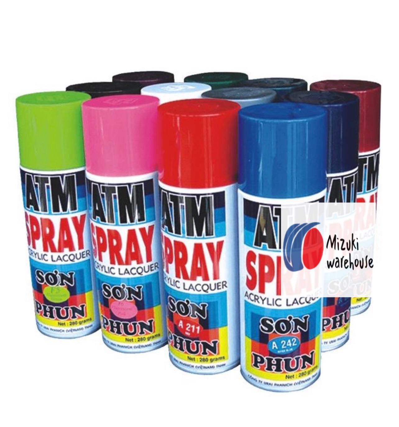Sơn xịt ATM đủ màu CHÍNH HIỆU, ATM Spray paint (khi mua trên 2 lọ các Bạn ấn sưu tầm mã vận chuyển phía dưới để hưởng ưu đãi)