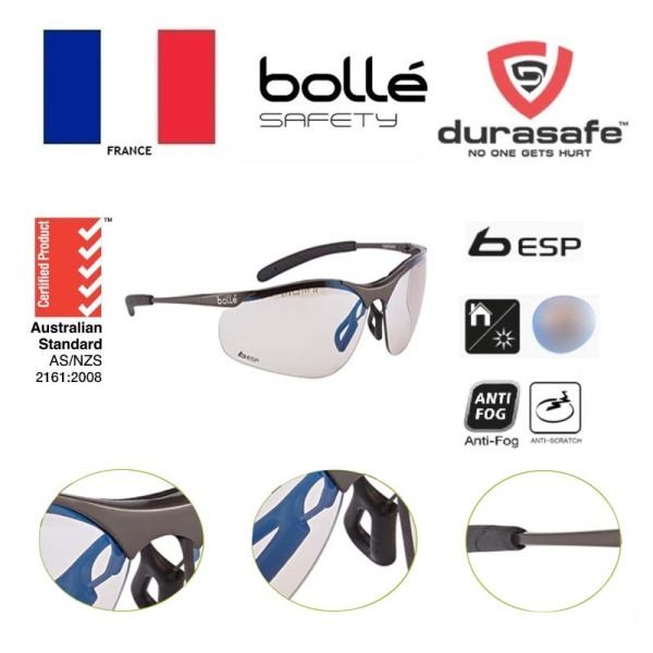 Kính BOLLE CONTMESP Contour Metal ESP (bảo vệ khỏi ánh sáng xanh 62%, ánh sáng thông thường 64%, tia UV 99,99%, GỌNG KIM LOẠI) (tặng hộp của shop)