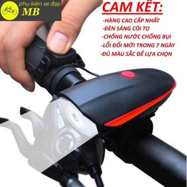 đèn xe đạp tích hợp còi chống nước chống bụi cao cấp