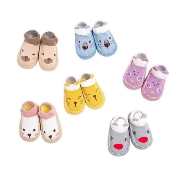 Giày vớ tập đi cho bé đế da chống trơn trượt bàn chân,giày tập đi đế mền cho bé ,giày tập đi giá rẻ