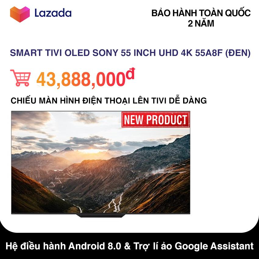 Smart Tivi OLED Sony 55 inch Ultra HD 4K - Model 55A8F (Đen) NEW