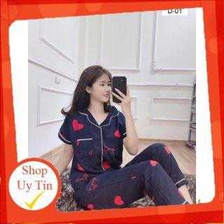 Bộ Pijama Dành Cho Nữ Áo Tay Ngắn Quần Dài Nhiều Mầu Hoạ Tiết Đáng Yêu thumbnail