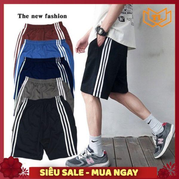 Bộ 3 Quần Đùi Nam - Quần short nam 3 sọc thể thao vải thun cho nam từ 40 - 75kg one size