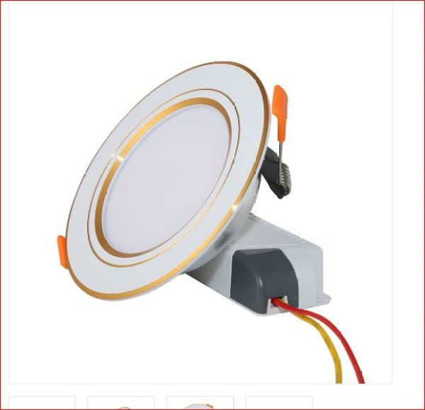 Đèn LED âm trần -LED DOWNLIGHT RẠNG ĐÔNG 7W , viền vàng, viền trắng chíp LED SAMSUNG