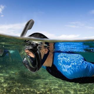Mặt Nạ Lặn Kính Mặt Bơi Lăn - Chống Sặc Nước Tặng Kèm Ống Thở Và Nút Bịt Tai Chống Nước thumbnail