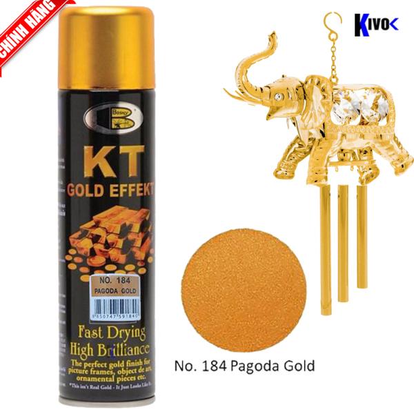 Sơn Xịt Mạ Vàng  18k 24k Bosny KT - Sơn Mạ Vàng Bosny- Sơn Xe Máy  - Bình Xịt Mạ Vàng Tạo Hiệu Ứng Gold - Kivo
