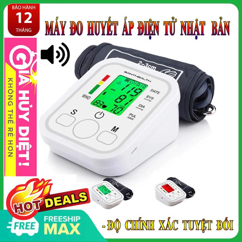 Máy Đo Huyết Áp Điện Tử Cổ Tay Nhật Bản , máy đo huyết áp tự động tono meter loại băng tay Chíp Thế Hệ Mới Màn Hình Lcd Hiển Thị Chính Xác Đo Cực Nhanh.
