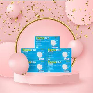 [Hàng xuất khẩu] Combo 5 hộp khẩu trang y tế cao cấp Famapro Premium 4 lớp kháng khuẩn (40 cái Hộp) thumbnail
