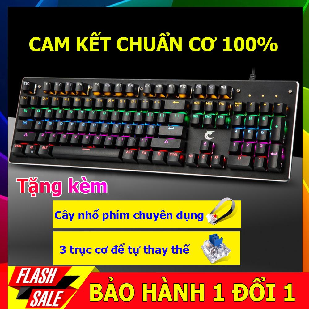[CÓ VIDEO TEST] Bàn phím cơ Gaming K100 full LED  kết nối USB 2.0, nhấn 26 phím đồng thời, phím cơ học, tùy chỉnh chiếu sáng theo phím