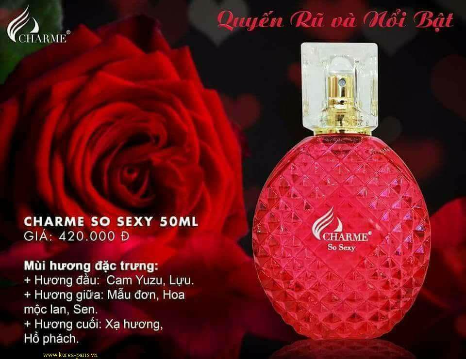 Nước hoa nữ So Sexy - HƯƠNG HOA HỒNG QUYẾN RŨ ĐẦY GỢI CẢM (50ML) nhập khẩu