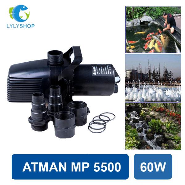 60W- 5700L/Hr - Máy bơm nước hồ cá ATMAN MP 5500, Đài Loan cao cấp, phi ống 34, tiết kiệm điện, dễ lăp đặt - Sản xuất 2020, BH 6 tháng