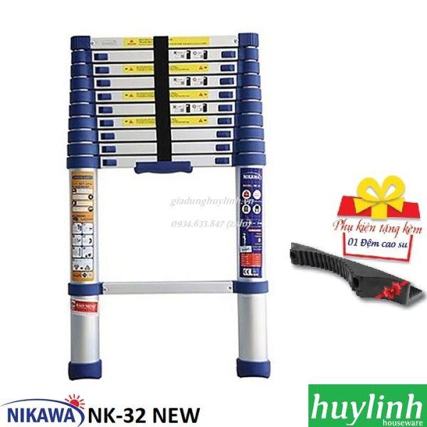 Thang nhôm rút đơn Nikawa NK-32 NEW - 3.2 mét - Tặng đệm cao su