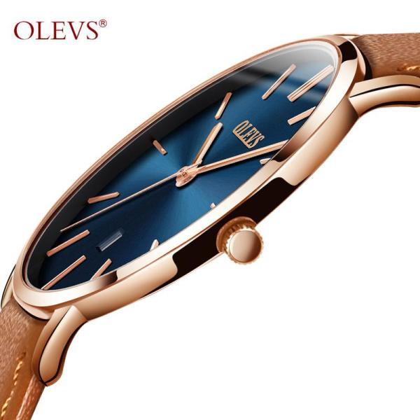 Nơi bán OLEVS Siêu mỏng Đồng hồ nam cao cấp chính hãng chống nước dây da đồng hồ nam thể thao đẹp Kính sapphire Chống rơi Phong trào thạch anh Nhật Bản