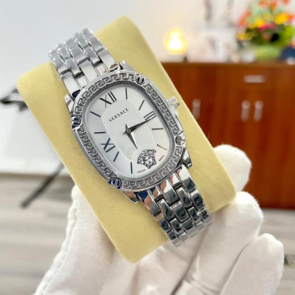 Nơi bán Đồng hồ nữ Versace dây thép đặc cao cấp màu bạc ( Có video chi tiết sản phẩm )