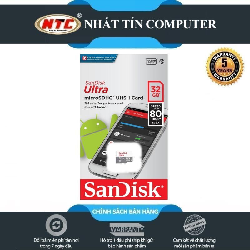 Thẻ nhớ MicroSDHC SanDisk Ultra 533X 32GB 80MB/s - new Version (Bạc)