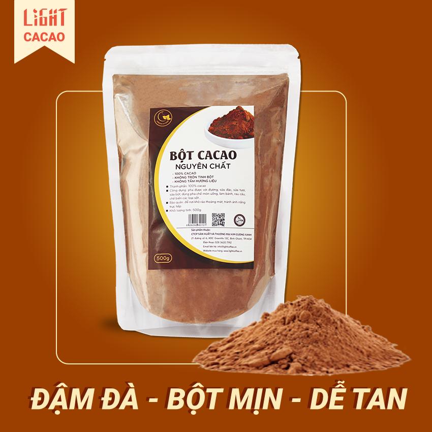 Mã Khuyến Mãi Khi Mua Bột Cacao Nguyên Chất Không đường Light Cacao - Gói 500gr