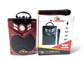 [HCM][Tặng Micro Không Dây UHF] Loa Karaoke Bluetooth Di Động K56 MINCHAN - Loa Mini - Loa Máy Tính - Loa KIOMIC Âm Thanh Cực Hay thumbnail