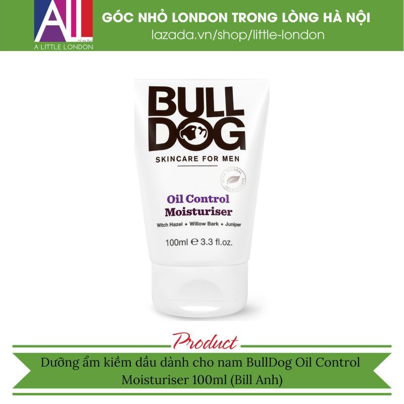 Dưỡng ẩm kiềm dầu dành cho nam BullDog Oil Control Moisturiser 100ml (Bill Anh)