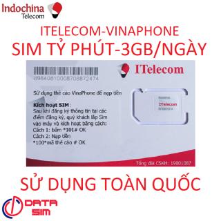 [HCM]SIM ITELECOM VINAPHONE NỘI MẠNG MIỄN PHÍ 90GB 30 PHÚT GỌI NGOẠI MẠNG 0Đ thumbnail