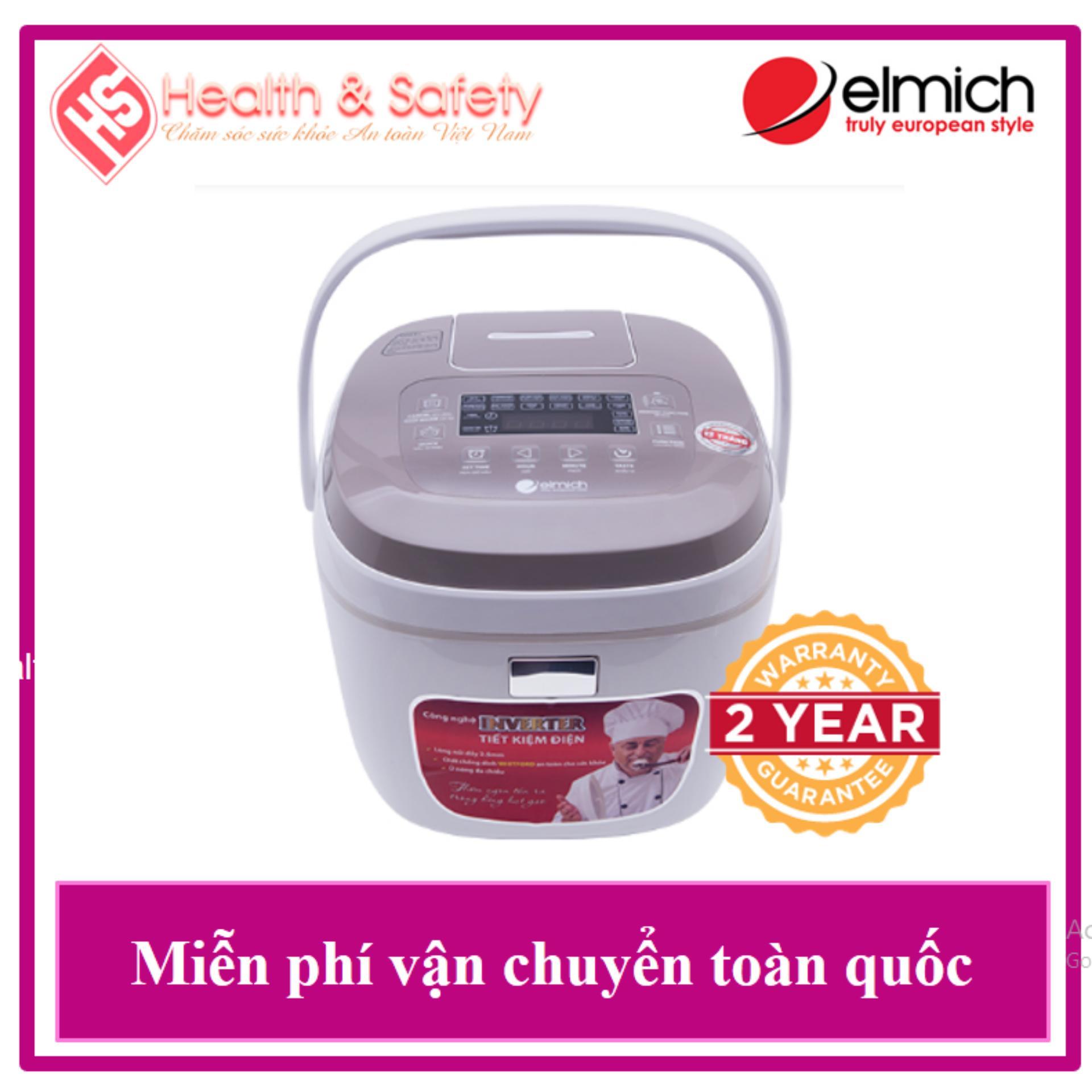HÀNG CHÍNH HÃNG Nồi Cơm Điện Tử Cao Cấp Elmich RCE-0031 1.8L - Bảo Hành 2 Năm