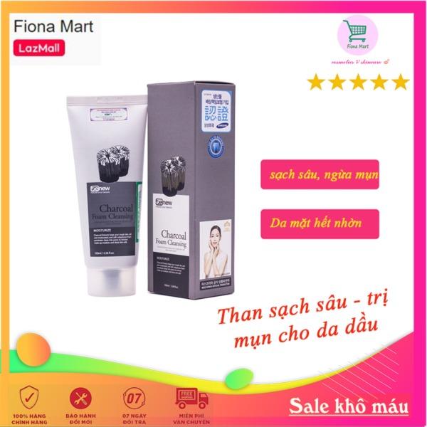 Sữa rửa mặt cho da dầu Benew Charcoal Than hoạt tính (100ml) Làm sạch sâu, se nhỏ lỗ chân lông cho da hết mụn sạch nhờn - Hàng chính hãng tốt nhất