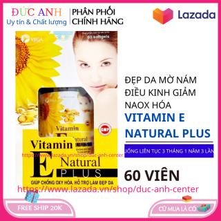 Vitamin E Natural Plus 60 viên chống lão hóa da hỗ trợ làm đẹp da trẻ hóa 60 viên thumbnail