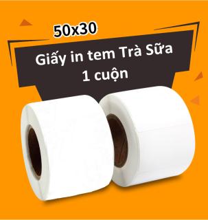 Tem decal ly trà sữa 50x30 (1 Cuộn) thumbnail