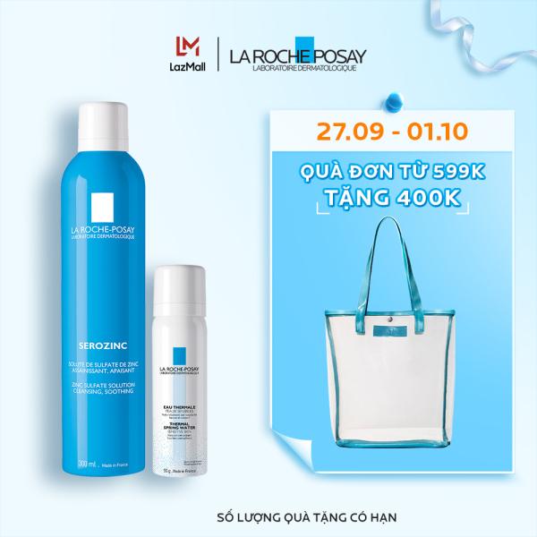 Bộ xịt khoáng giúp làm sạch, làm dịu và giảm bóng nhờn La Roche-Posay Serozinc nhập khẩu