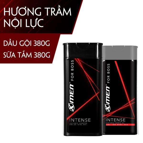 Combo Dầu gội nước hoa X-Men for Boss Intense 380g + Sữa tắm nước hoa X-Men for Boss Intense 380g giá rẻ