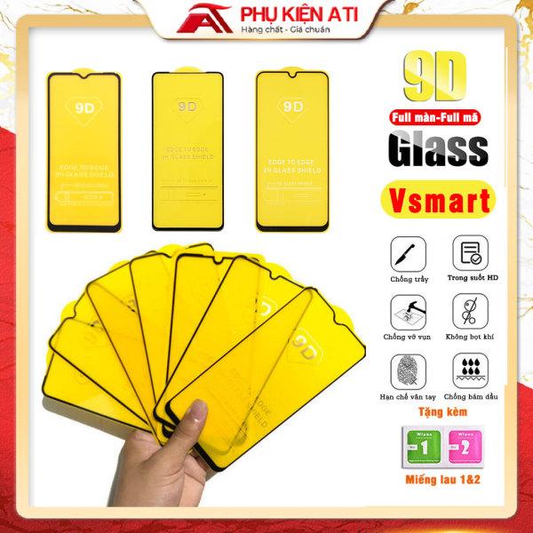 Kính cường lực Vsmart Star 5/ Star 4/ Star 3/ Live 4/ Joy 4/ Joy 3/ Joy 2 Plus/ Aris/ Aris Pro/ Active 3 - Full màn hình 9D 9H - Phụ kiện ATI