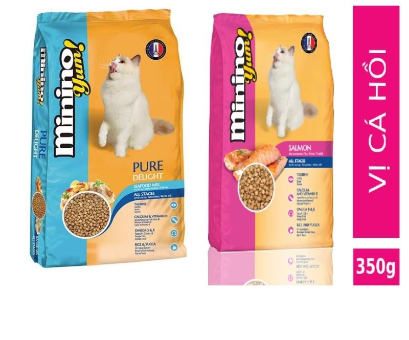 HCM-(1 Gói 350gr) Minino Yum(2 vị)  - Thức ăn viên cao cấp cho mèo mọi lứa tuổi - thức ăn dành cho mèo