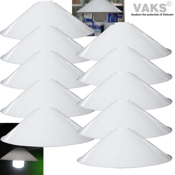 10 cái Chụp đèn chống mưa, chống chói kích thước 245mm x 78 mm - 119 - nhựa ABS - sx tại Việt Nam