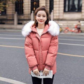 Áo khoác phao cổ lông duyên dáng ấm áp với 3 lớp nhồi Bông xua tan mùa đông băng giá thumbnail