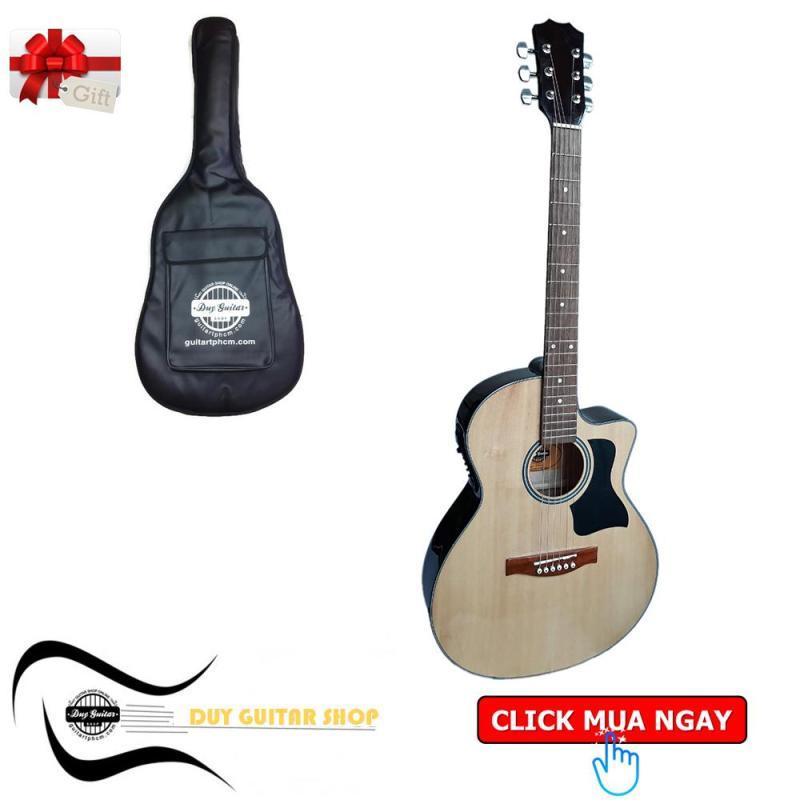 Đàn guitar Acoustic DT70X Có EQ - hiệu Duy Guitar