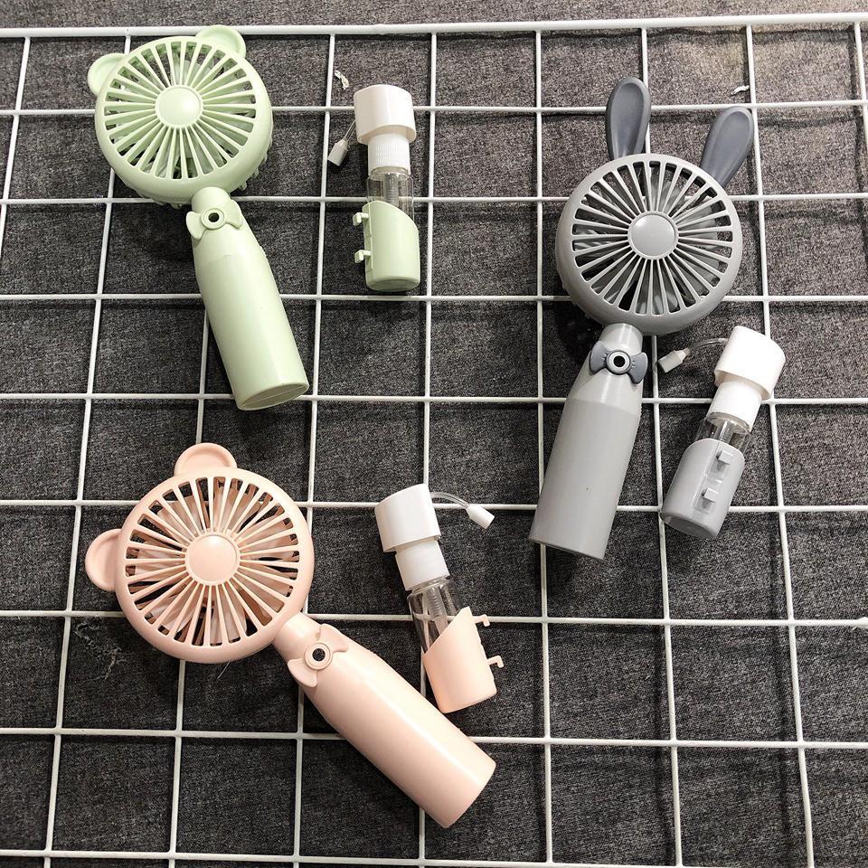 Quạt Phun Sương Cầm Tay Mini - Quạt Cầm Tay Mini Có Tích Hợp Phun Sương Nhỏ Gọn Siêu Tiện Lợi