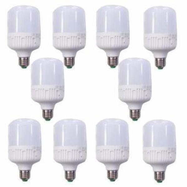 Bộ 10 bóng đèn led Trụ 30W siêu sáng-siêu tiết kiệm điện (Trắng)