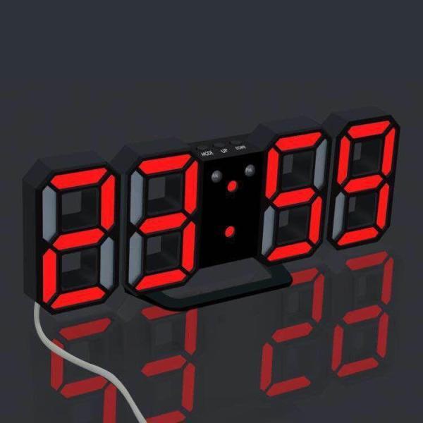 Đồng hồ LED 3D treo tường, để bàn thông minh bán chạy
